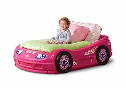 Amazoncom Little Tikes Princess Pink Toddler Roadster Bed Toys