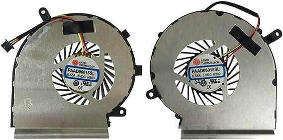 Cpu Cooling Fan + Gpu Cooling For Msi Ge72 Ge62 Pe60 Pe70 Gl62 Gl72