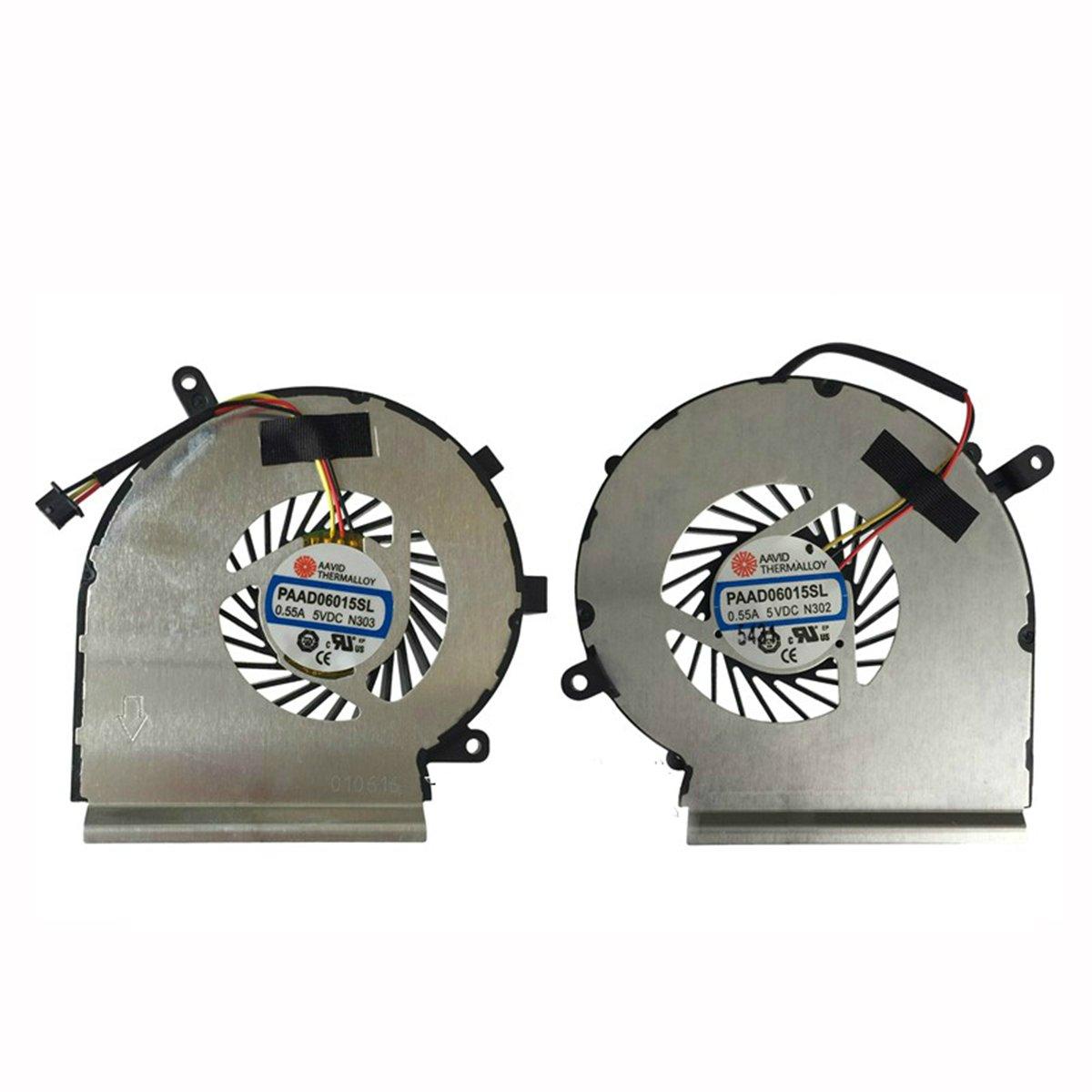 Cpu Cooling Fan + Gpu Cooling For Msi Ge72 Ge62 Pe60 Pe70 Gl62 Gl72, 2 Fans PAAD06015SL N302 N303 by sywpart (Image #1)