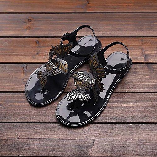 Butterflies Sandali Donna little deer Black RwXz0wq