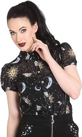 Hell Bunny Solaris Sun Moon Stars Gothic Wicca Plus Size Chiffon Dress XS-4XL