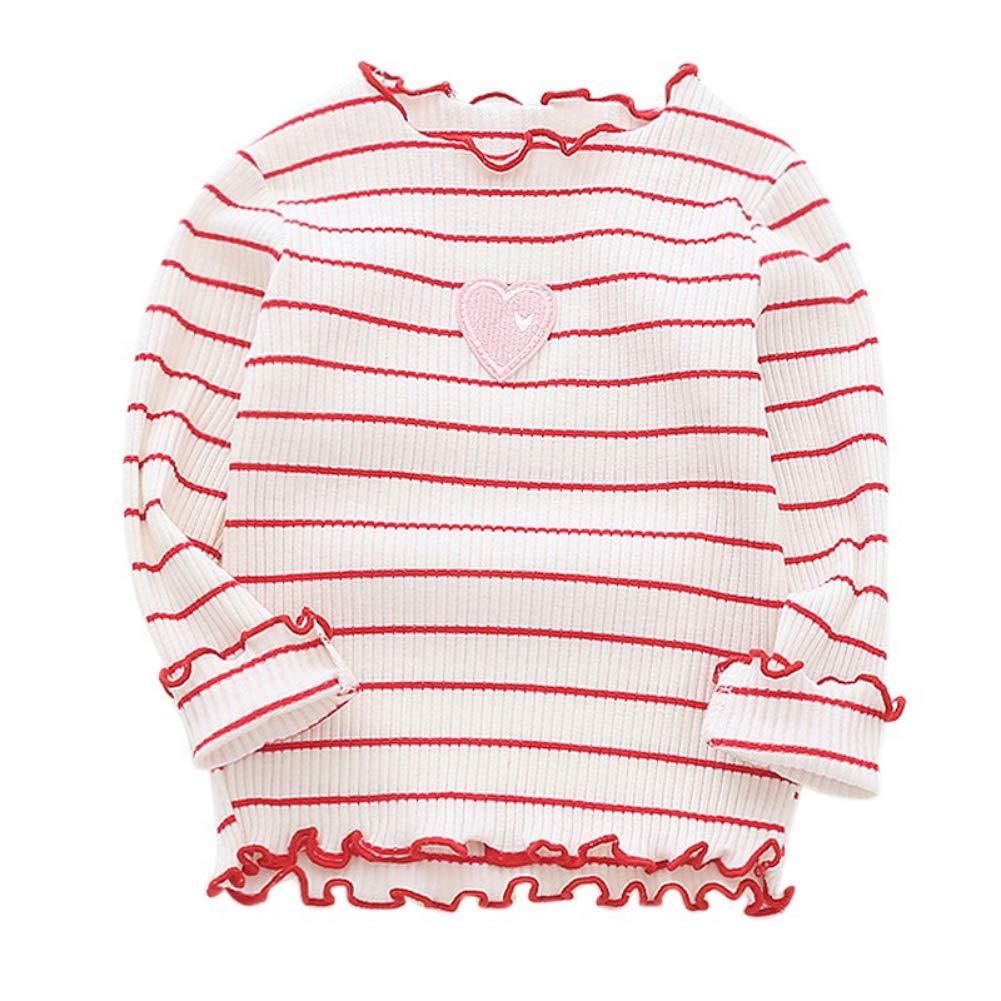 Urmagic Blouse bébé Fille Pull-Over Longue Manche Enfant Fille Top Blousons Vêtement Motif Mignon Casual Automne Printemps Rayée Sweat-Shirt