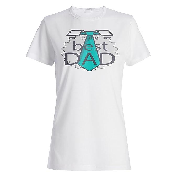 INNOGLEN el Día del Padre Te Amo Papá Bigote Divertido Camiseta de Las Mujeres d577f