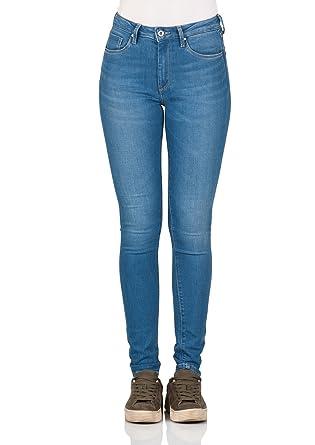 ce897a1b607f Pepe Jeans Damen Jeans Regent - Slim Fit - Blau - Light Blue Denim, Größe