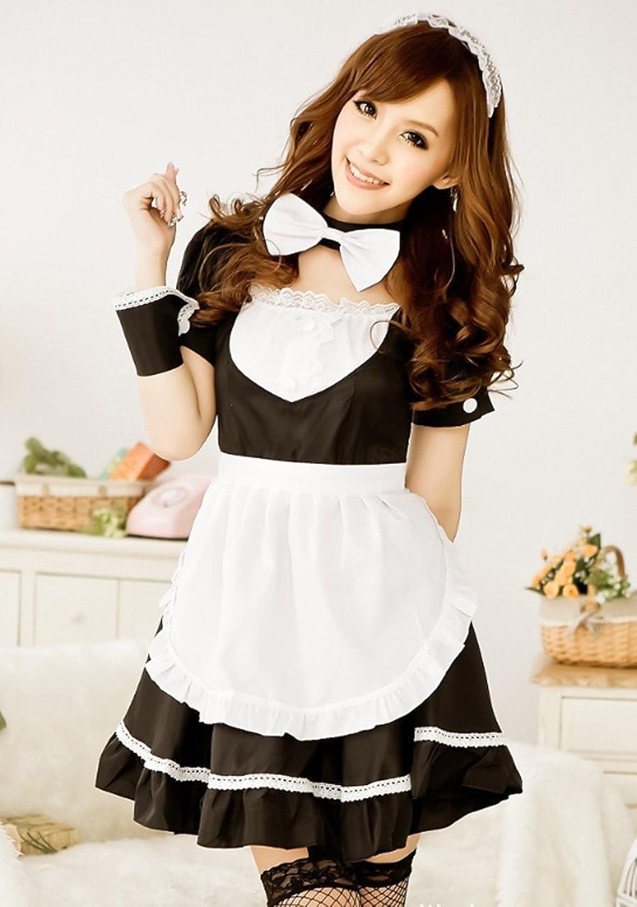 Amazon Com Moco Bff Women Lolita French Apron Maid Fancy Dress