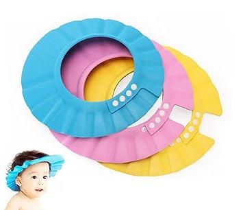 Soft Adjustable Shower Cap Baby Kids Children Bath Shampoo Shield Hat Wash Hair Bathing Accessories Baby
