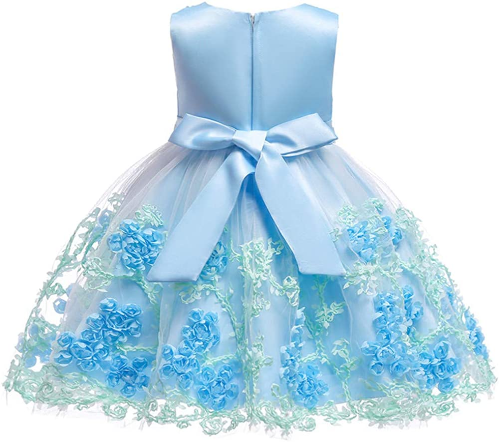 XIPAI Flower Girl Dress for Pageant Party Age 3M-9T