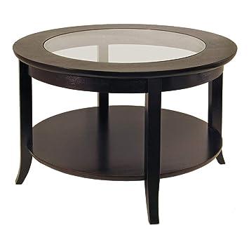 Winsome Wood Round Coffee Table Espresso Amazoncouk