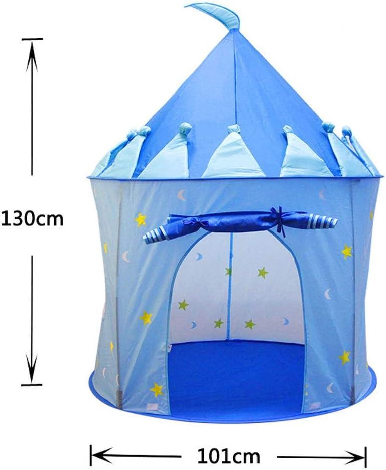 Cubierta Cuatro Estaciones la Tienda del Juego, Tienda al Aire Libre portátil de Mongolia Yurt Tiendas Azules, Rosado, púrpura niños de la Tienda / 101 * 101 * 130 CM Blue