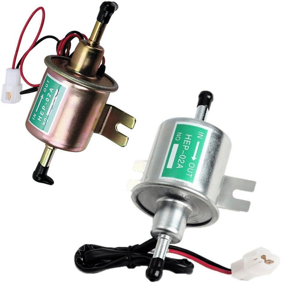 iCamecho HEP-02A Pompe /à Carburant /Électrique Basse Pression 12/V pour Automotive Agricole Argent/é