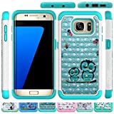 Galaxy S7 Edge Case, HLCT Rugged Shock Proof Dual-Layer Case for Samsung Galaxy S7 Edge (2016) (Cute Owl)