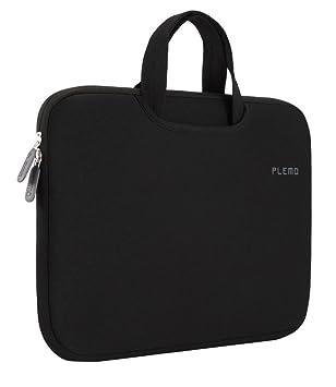PLEMO Fundas para Portatil Tela de Nylon Lycra Maletín Bolso Sleeve para Ordenador Portátil / MacBook / MacBook Pro de 15-15,6 Pulgadas, Negro: Amazon.es: ...