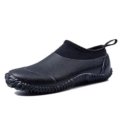 tengta unisex waterproof garden shoes womens rain boots mens car wash footwear - Mens Garden Shoes