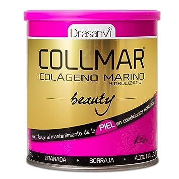 Collmar Beauty 275 g – Colágeno marino hydrolysé enzymatiquement, aceite de onagro, Granada, aceite de Borago, Vitamina C y ácido hialurónico
