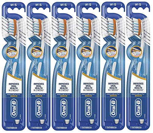 Oral-B Pro-Health Advanced Clinical Pro-Flex Toothbrush, Soft - Pack of 6