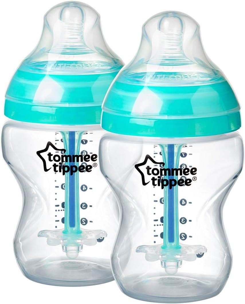 Tommee Tippee Biberón Anti-cólicos Avanzado, 260 ml, 2 unidades