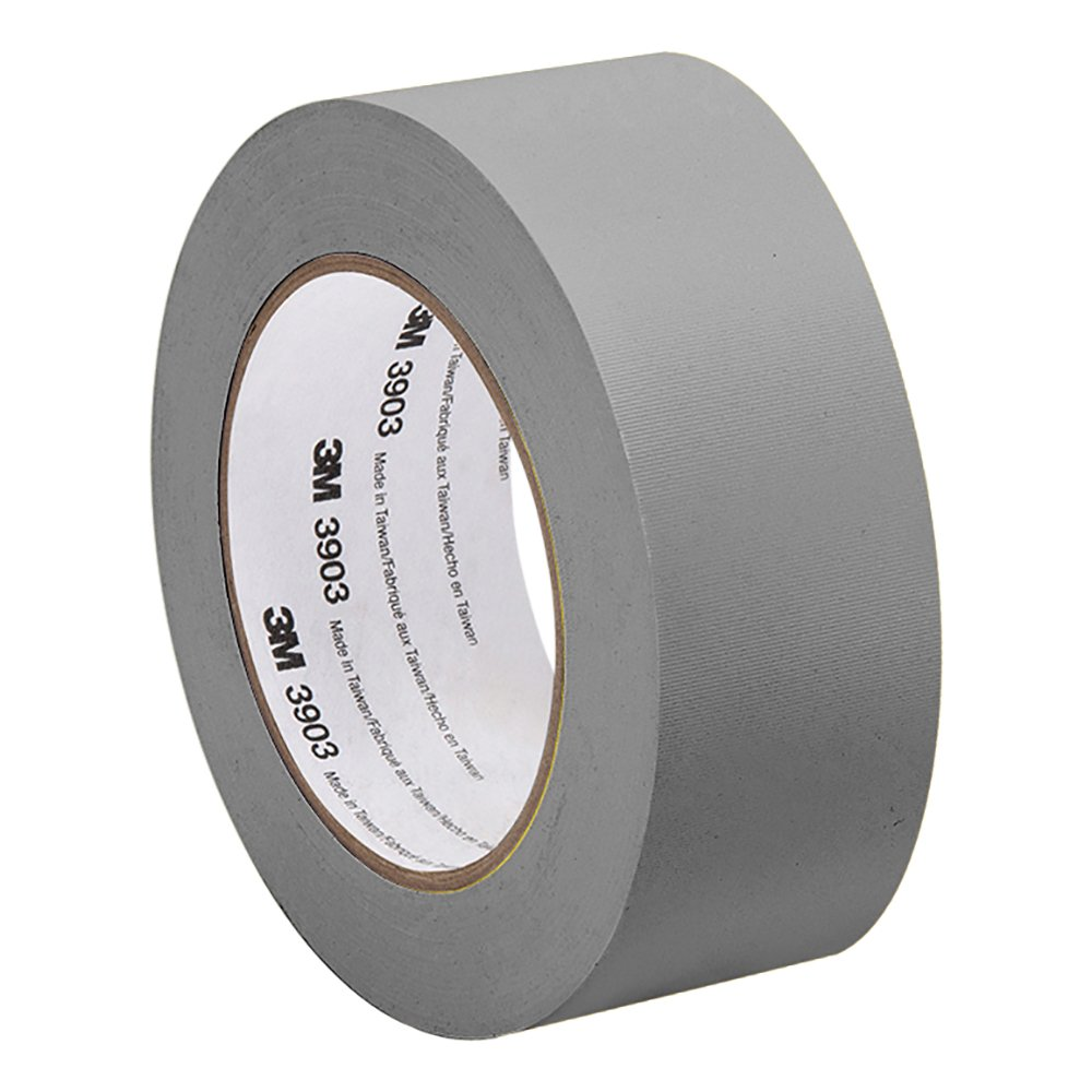 TapeCase 2-50-3903-GRAY - Adhesivo de vinilo y caucho gris, convertido de 3 m de cinta adhesiva 3903, 12,6 psi fuerza de tensió n, 50 yd. Largo, 5,08 cm de ancho. 6 psi fuerza de tensión