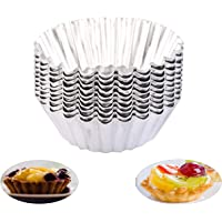 Pie Cans Baking Supplies 200 Per Pack 3 Inch Disposable Aluminum Foil Mini Egg Tart//Pie Dish//Pie Dish Baking Mold Egg Tart