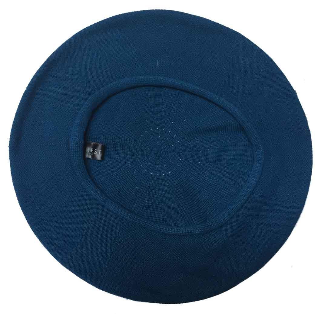 Parkhurst of Canada 11-1/2 Inch Cotton Knit Beret (Deep Sea Blue)