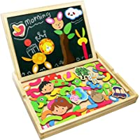 Fajiabao Wooden Double Side Magnetic Animal Jigsaw Puzzle