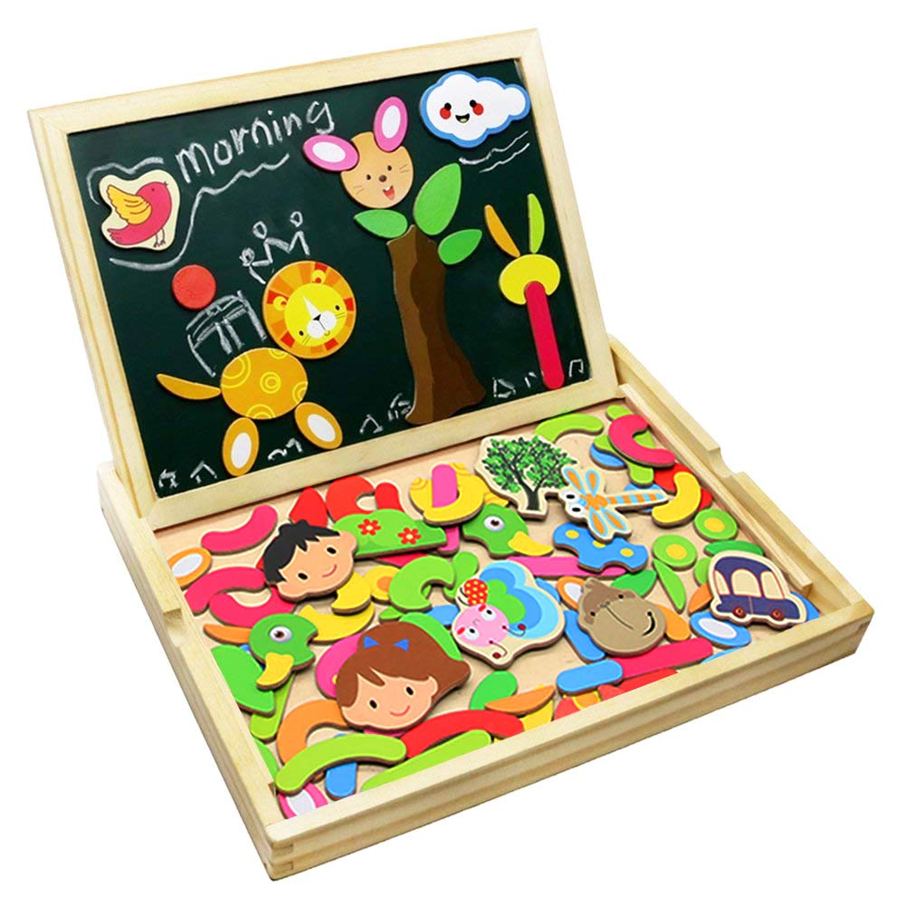 Learning & Education Beautiful 1 Set 26 Alphabet Magnet Wooden Puzzle Toy Intelligence Development Toys For Children Magnetic Sticker Montessori Education Gift The Latest Fashion
