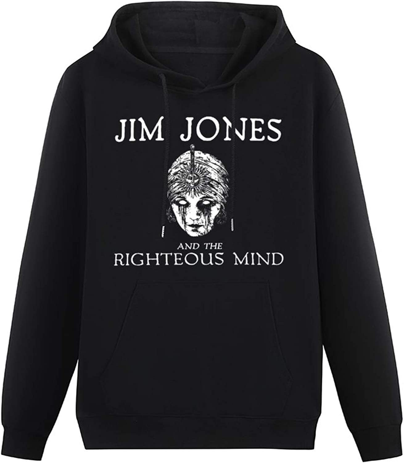 Jim Jones and The Righteous Mind Printed Lightweight Hoodie for Teenager Long Sleeve Hooded Pullover Sweatshirts Black