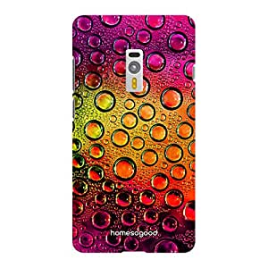 HomeSoGood Colorful Amazing Water Drops Multicolor 3D Mobile Case For OnePlus 2 (Back Cover)