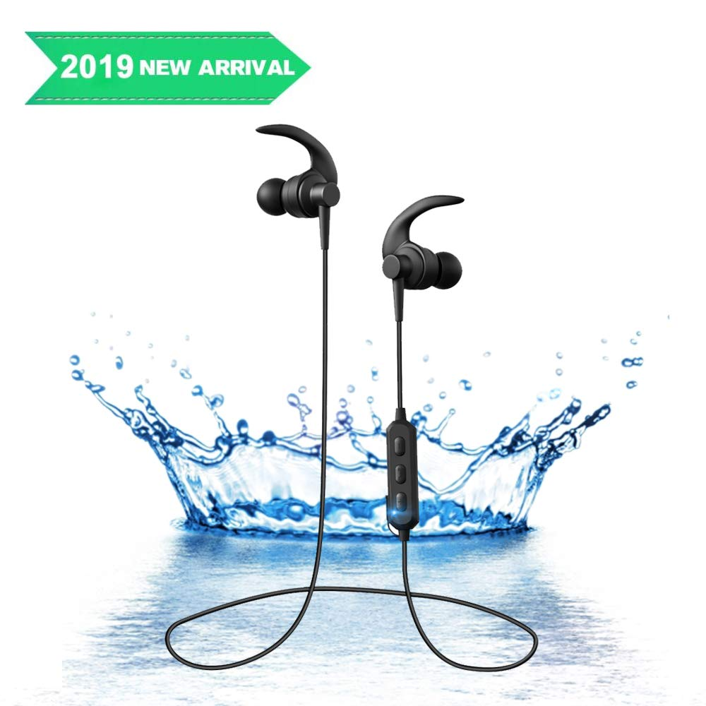 Wireless Bluetooth Headphones, Wireless Magnetic Earphones, Noise Cancelling in-Ear IPX6 Sweatproof Earbuds with Mic for Workout and Sports Running