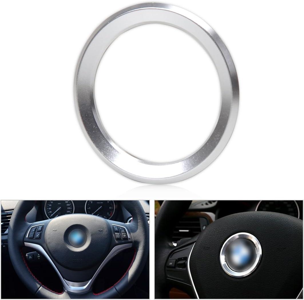 Beler Silber Auto Lenkrad Mitte Dekoration Ring Trimm Abdeckung Auto
