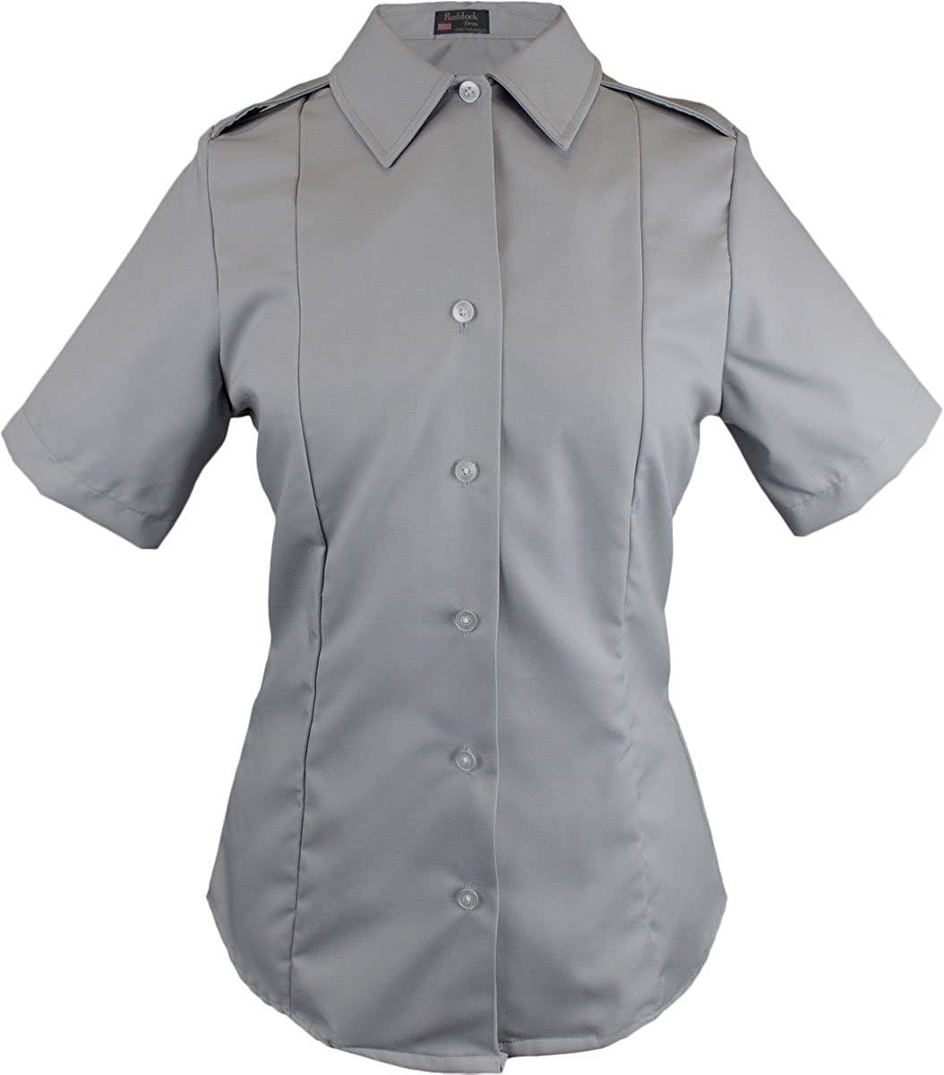 JROTC Female Short Sleeve Gray Tuck-In Blouse