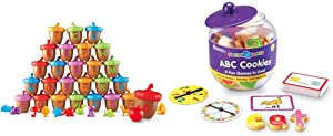 Learning Resources Alphabet Acorns Activity Set, 78 Pieces, Visual & Tactile Learning Toy, Ages 3+ & Goodie Games ABC Cookies, 4 Games in 1, Alphabet, Pre-Reading, Phonics, Ages 3+
