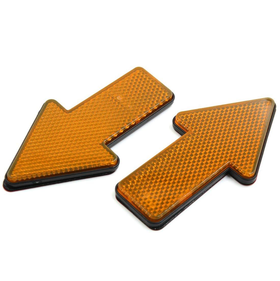 AUTUT Car Reflective Sticker Orange Arrow Shape Vehicle Car Reflector Strips Pack of 4