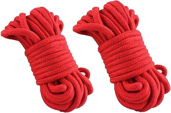 BONDAGERIE® Copa de còrde rojos de algodón (2 cuerdas ...
