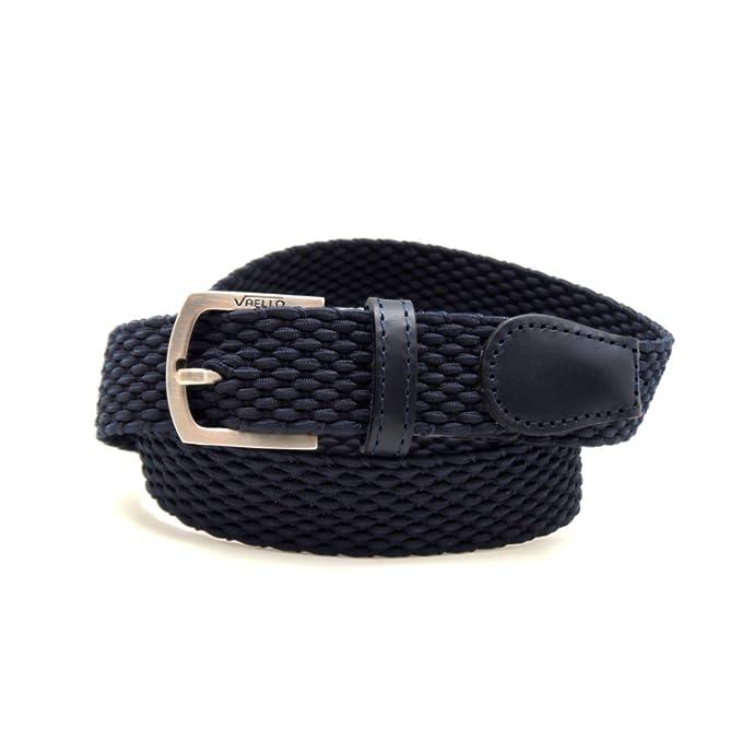 53c0f4ab2 VAELLO - Cinturón niño trenzado elástico con puntera piel ancho 25mm ...