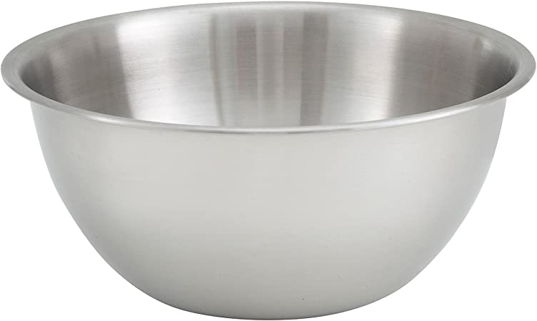 Deep 8-Quart Heavy Duty Stainless Steel Mixing Bowl Winco MXBH-800