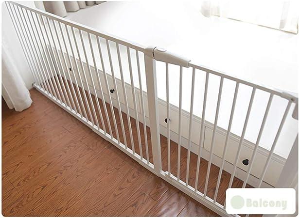 QIANDA Barrera Seguridad Niños Protector Escaleras Bebe Extra Amplio 61-277cm | 90 ° Puerta Abierta/De Dos Vías, Auto Cerrado Fuction - Blanco Seguridad Escalera Portón: Amazon.es: Hogar