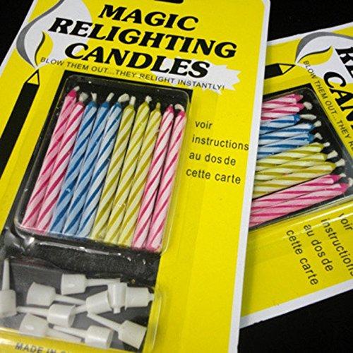 Lanlan 1Set Magic Relighting Birthday Candles