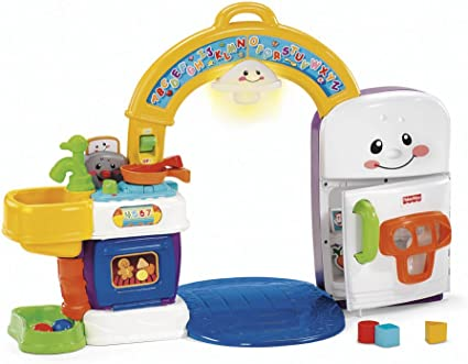 Amazon Com Fisher Price Laugh And Learn 2 In 1 Learning Kitchen Toys Games
