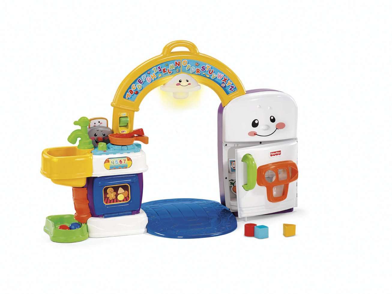 Amazon.com: Fisher Price Laugh and Learn 2-in-1 Learning Kitchen ...
