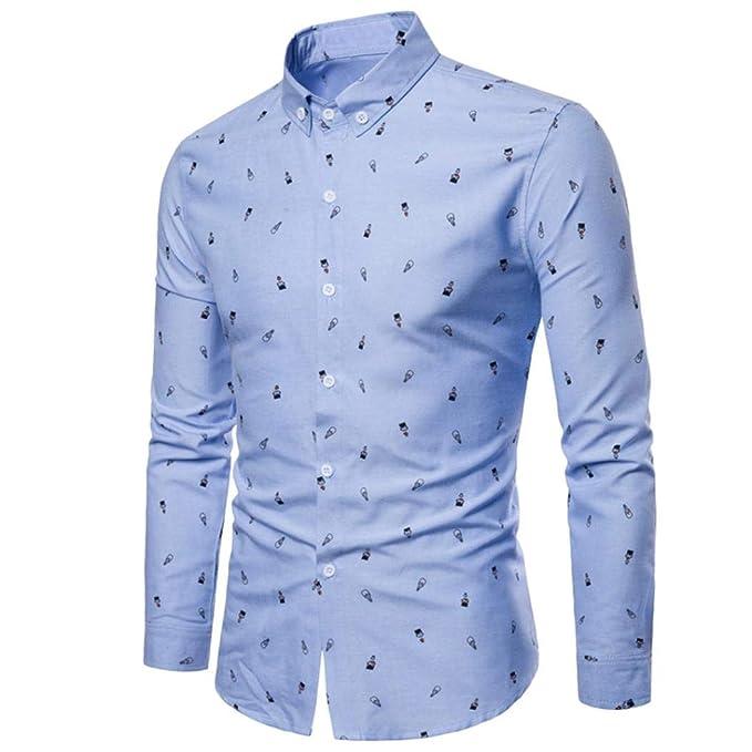 854512a1f6bf1 Camisas Hombre Manga Larga Estampadas AIMEE7 Camisas Hombre Algodon ...