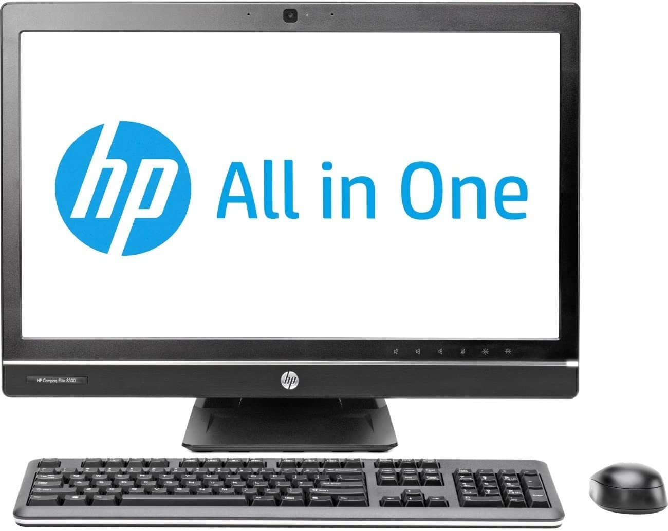 HP Compaq Elite 8300 All-in-One PC AIO Desktop Computer, 23 Inch Full-HD WLED Non-Touch LCD Display, Core i5-3470 3.20GHz, 8GB RAM, 120GB SSD, DVD, WiFi, Bluetooth (Renewed)