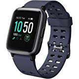 Willful Smartwatch Impermeable Reloj Inteligente con Pulsómetro, Pulsera Inteligente para Deporte con Cronómetro, Podómetro. Smartwatch Hombre Mujer Niños para Android iOS Xiaomi Huawei iPhone