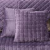 Decorative Pillow Cover - OstepDecor Multi-size Square Decorative Throw Pillow Cover Cushion Case | Grape Purple 18