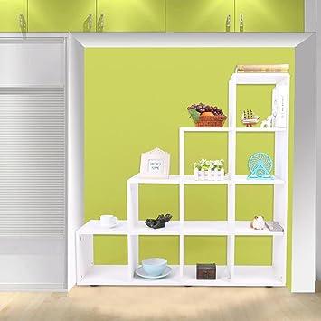 EBTOOLS - Estantería para escaleras, 10 compartimentos en forma de cubo, estantería escalonada, estantería para la cafetería de oficina de casa, 114 x 30 x 116 cm: Amazon.es: Juguetes y juegos