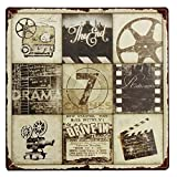 Movie Signs Decor Art - Movie Feature Tin Sign Vintage Metal Plaque Poster Bar Pub Home Wall Decor - The Zodiac Gestural Moving Picture Mark Polarity Augury Communicatory - 1PCs