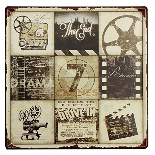 Movie Signs Decor Art - Movie Feature Tin Sign Vintage Metal Plaque Poster Bar Pub Home Wall Decor - The Zodiac Gestural Moving Picture Mark Polarity Augury Communicatory - 1PCs by Unknown