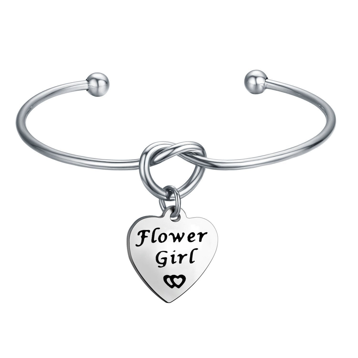 flowergirl love bracelet knot wedding dp com bangle for gift seiraa flower jewelry girl amazon