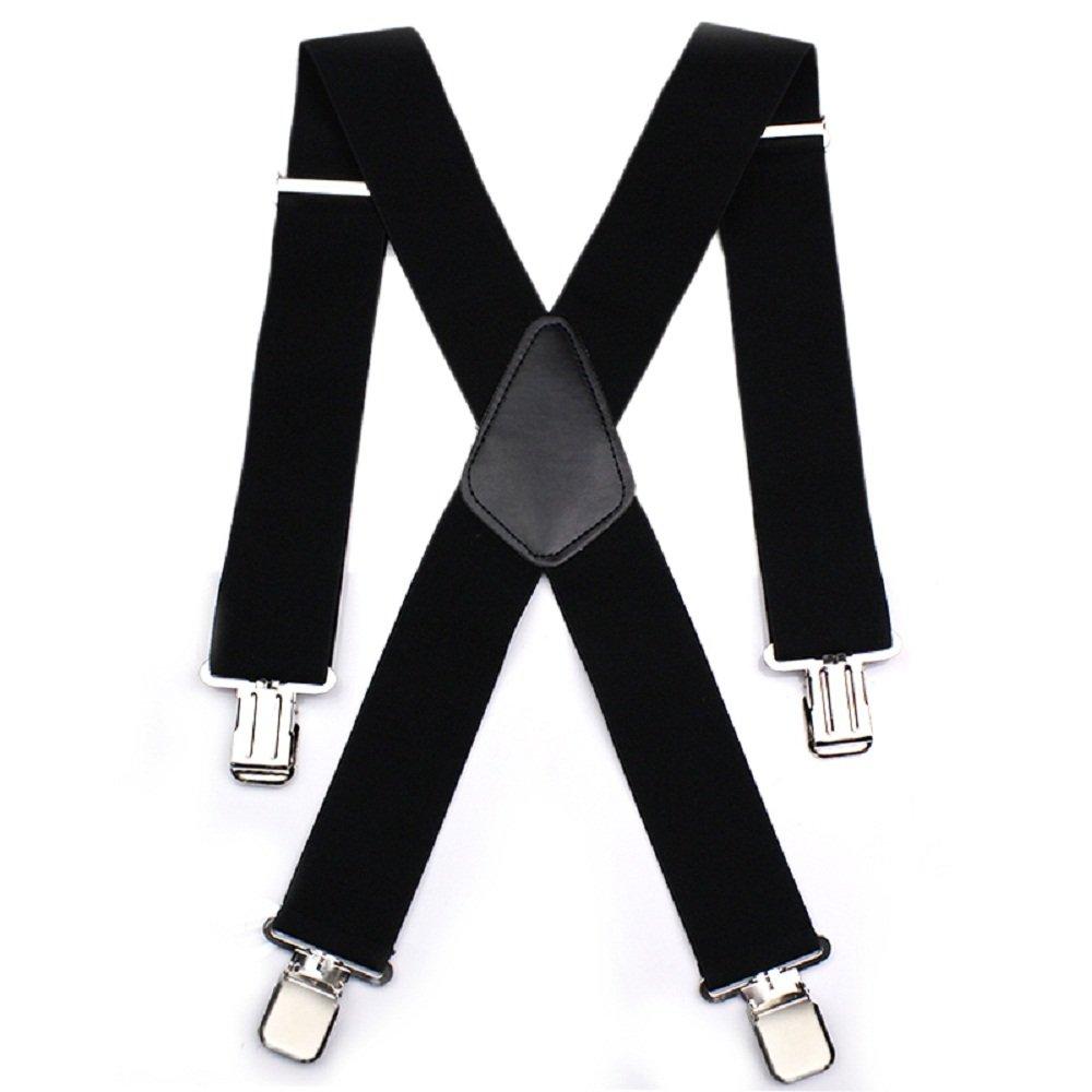 Tirantes Ajustables para Hombres Tirante Aulola 50MM Tirantes para Pantalones Elásticos Rayados Tirante X Forma con Cips Metálicos