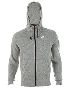 Nike Sudadera Full Zip con Capucha AW77, Gris y Blanco, M-T: Amazon.es: Deportes y aire libre