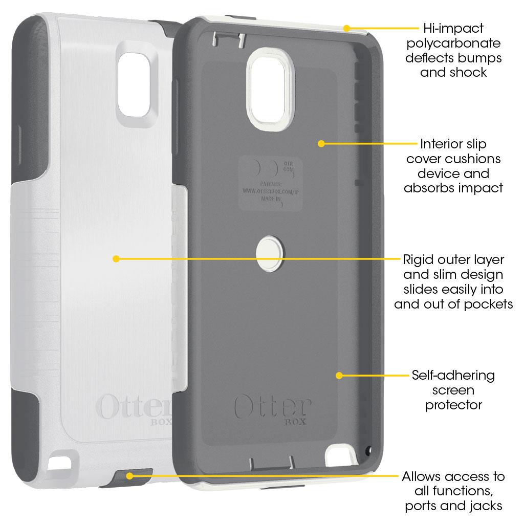 more photos 30939 9cc5d OtterBox Commuter Series Case for Samsung Galaxy Note 3-Retail  Packaging-White/Gunmetal